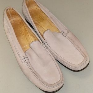 Escada Sport Taupe Leather Driving Shoes Loafers